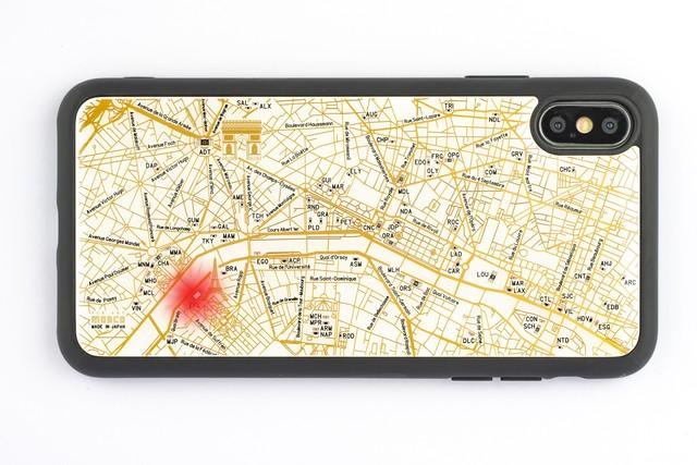 FLASH Paris回路地図 iPhone XS Maxケース 白【東京回路線図A5クリアファイルをプレゼント】