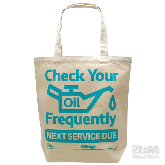 2takt Tote bag/Check your oil frequentrly