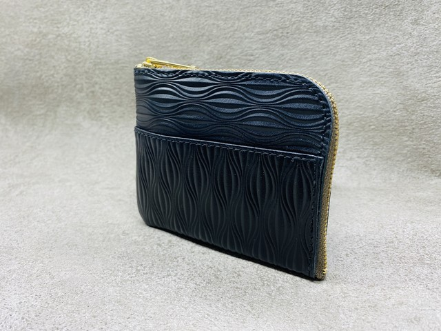 L-type mini wallet (Uribo embossing) Color: Black