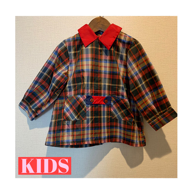 【KIDS】70's school blouse - French - Size 3.4years