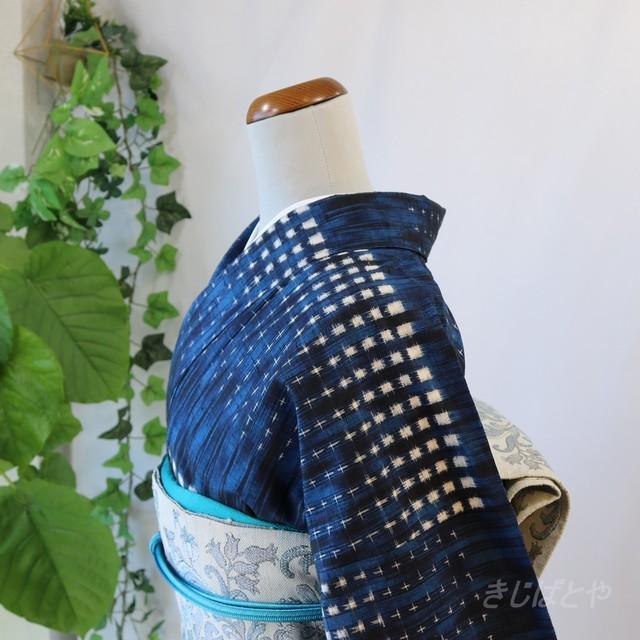 正絹 浅緋色の江戸小紋 袷の着物