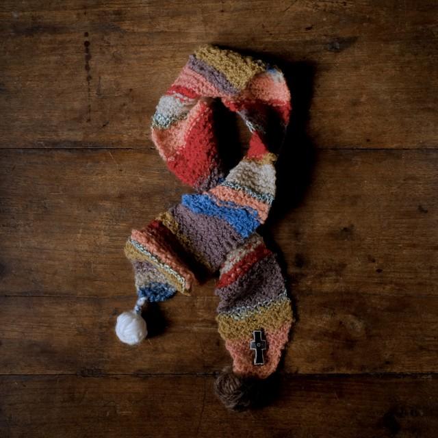 primitive knit 「祈りの子」草木染めミニマフラー