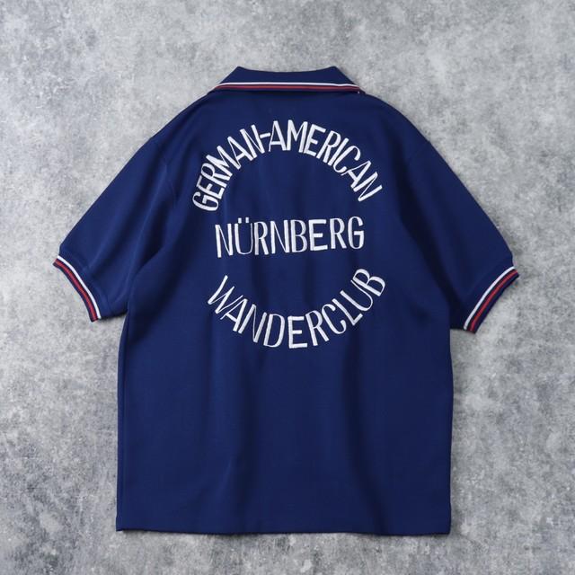 70年代 ボーリングシャツ 刺繡 古着 A02