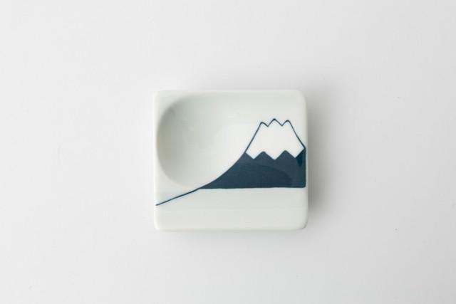 波佐見焼 重宝皿 富士山(青) 【アイユー】