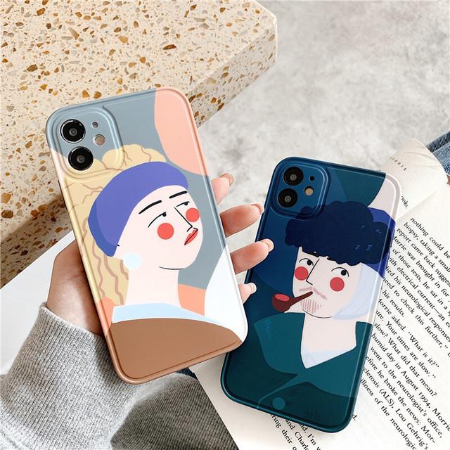Funny Couple art iphone case