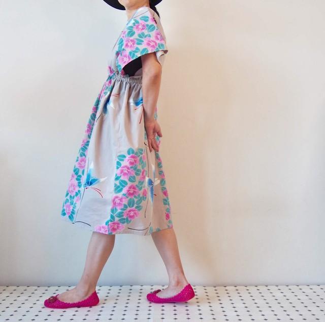 OKINAWA KAFTAN MIDI -浴衣地を使ったカフタンドレス 限定2枚!受注製作となります