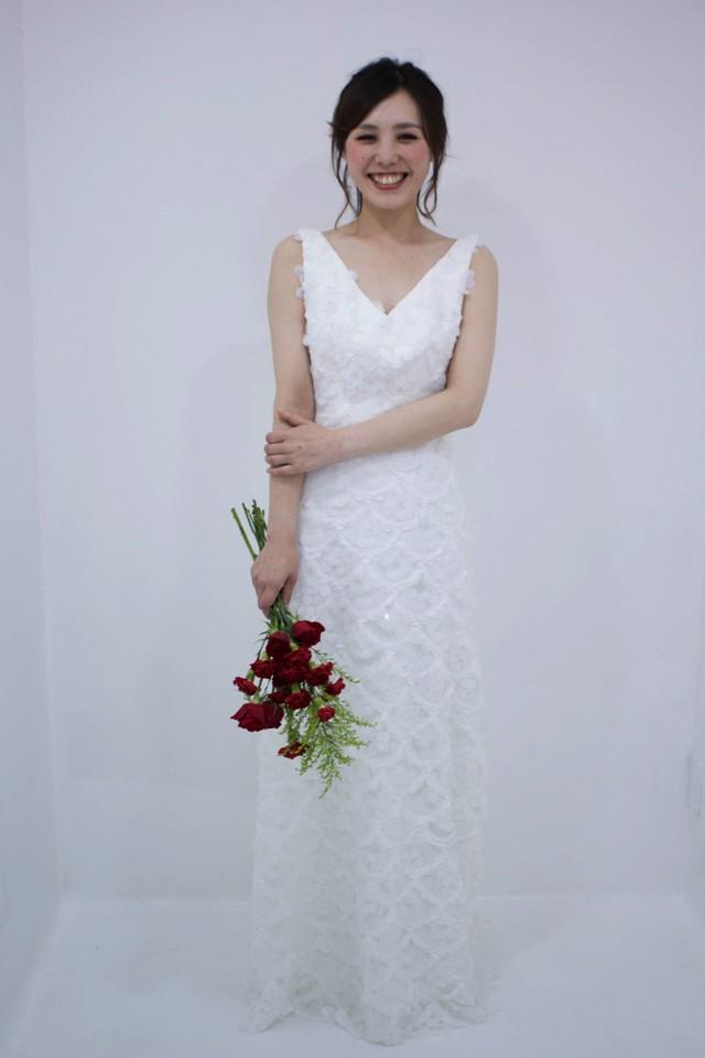 English Toffee♡大人可愛い♡ すらっとチュールのスレンダーAラインドレス