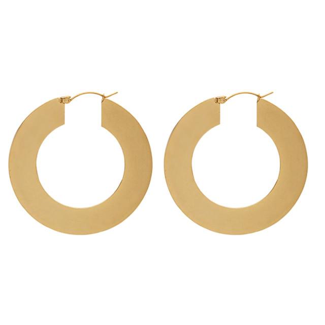 flat hoop pierce