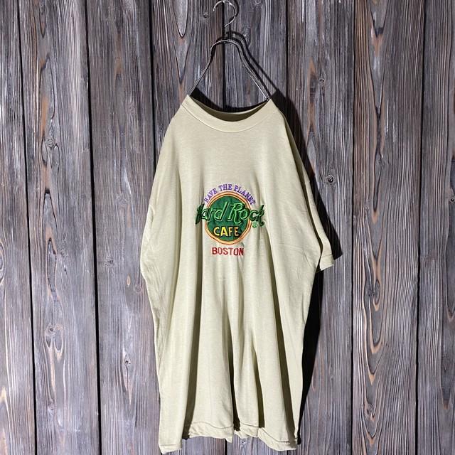 [Hard Rock Cafe]Boston beige T shirt