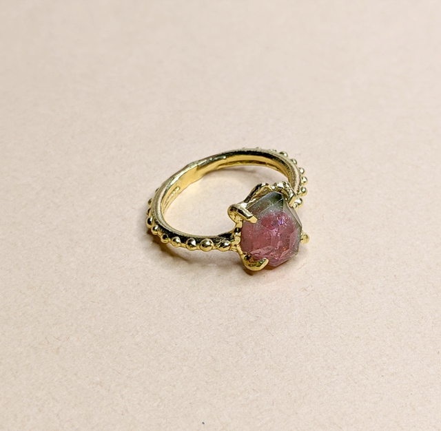 Bicolor Tourmaline Ring