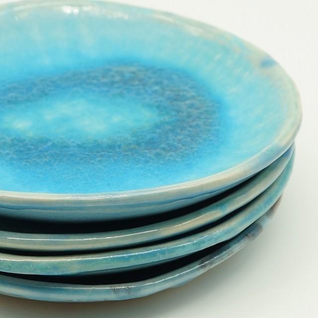 スリップウェア 4.5寸皿【唐仙窯】