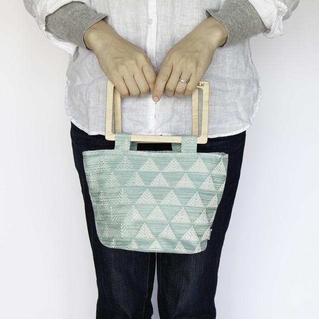 flowerpot bag L [stripe / night blue]