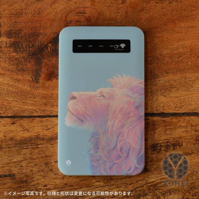 iphone モバイルバッテリー かわいい スマホ 充電器 持ち運び モバイルバッテリー オシャレ iphone 携帯充電器 アンドロイド おしゃれ アニマル ライオン/YUHEI