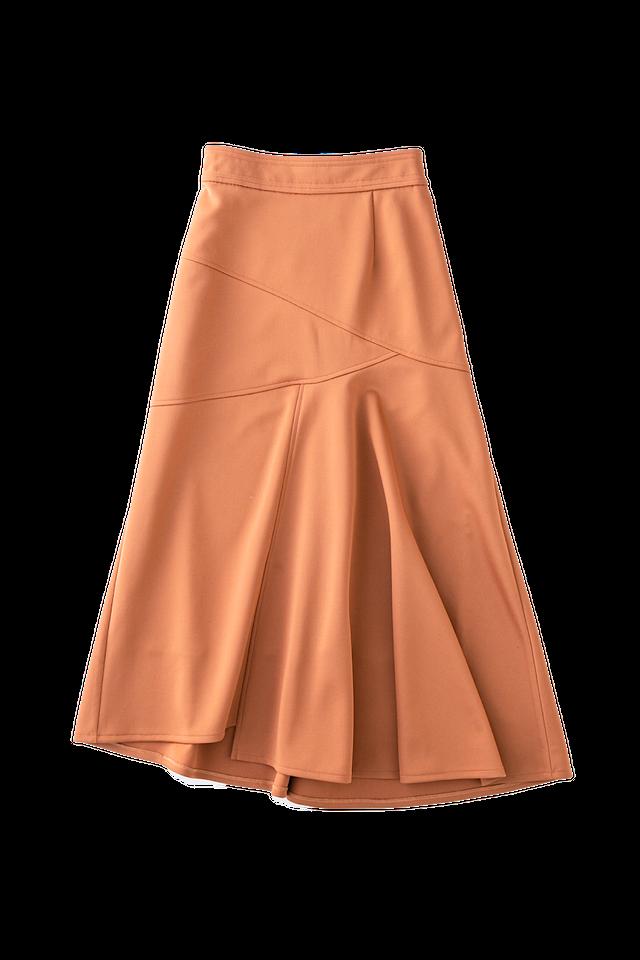 アシメフレアマーメイドスカート <オレンジ>