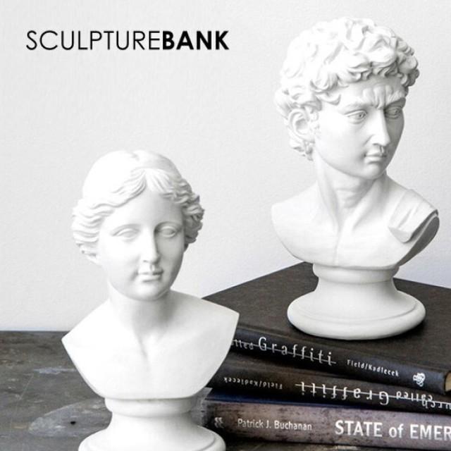 超リアルな偉大な彫刻作品が貯金箱に!スカルプチャーバンク  スカルプチャーバンク 彫刻 貯金箱 インテリア ダビデ像(ミケランジェロ)ヴィーナス像 おしゃれでかわいい貯金箱