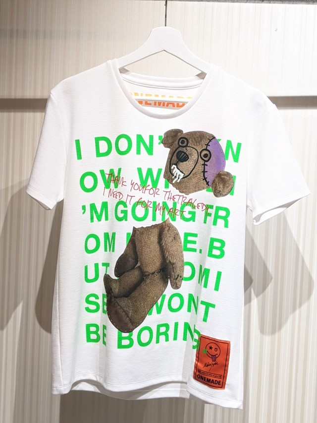 ONE-732 Teddy 2 プリントTシャツ WHITE