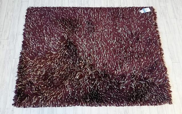 【送料無料】ハンドメイドシャギーカーペット200×140cm