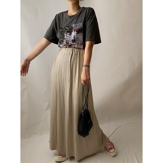 【asyu】i line long skirt 《last1》