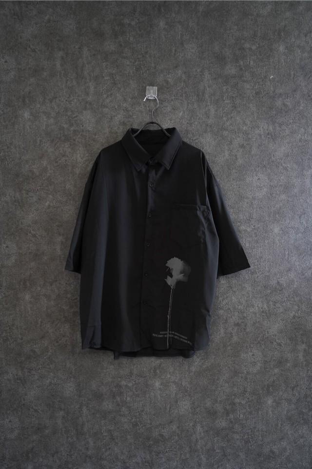 ℃℃℃ flowe shadow shirt Black
