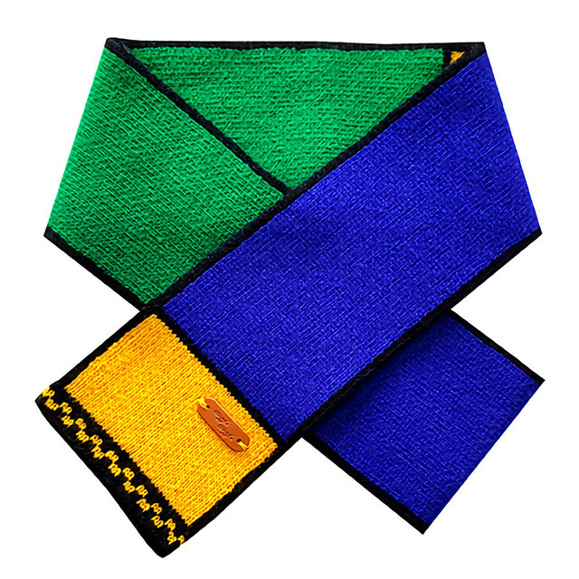 Wool Scarf - Funky cube
