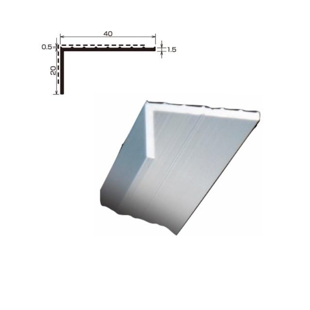 L型アルミアングル 端末押え金物 TA-49 厚さ 1.5 規格 20×40×2,000/本 各種シート防水 タイセイ