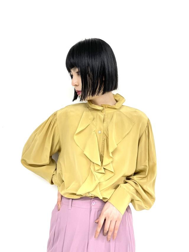 vintage puff ruffle blouse /3SSTP03-06