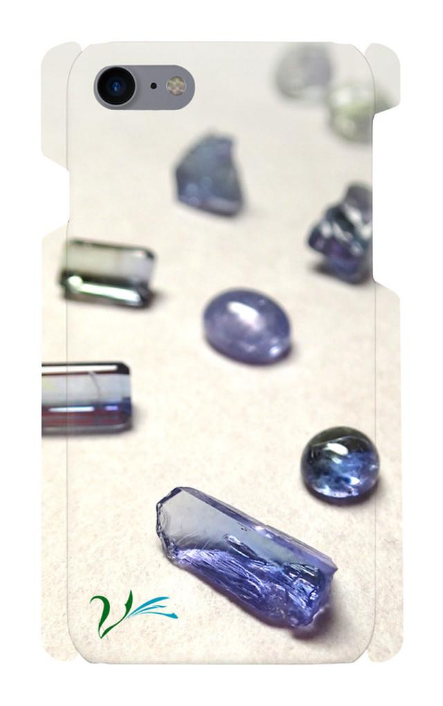タンザナイト原石 スマホケース iPhone7/8対応
