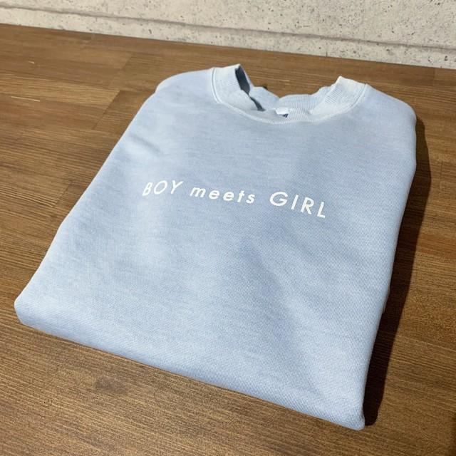 【販売予告 3/7(木)20:00】Bull. オリジナルトレーナー BOY meets GIRL YOKOHAMA BLUE