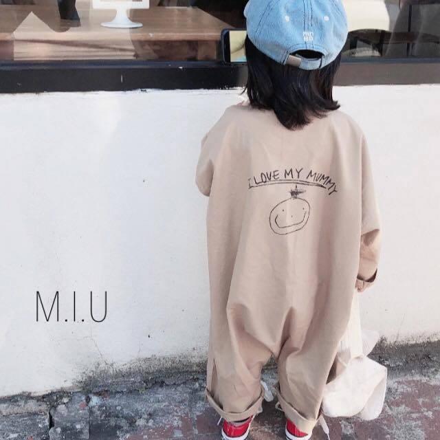 バックプリントジャンプスーツ #MIU720