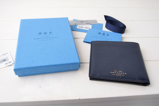 finest selection 83d02 65f09 【Sold Out】スマイソン|SMYTHSON|バーリントン 2つ折り財布 ネイビー | 鳩目堂 BASE支店 powered by BASE