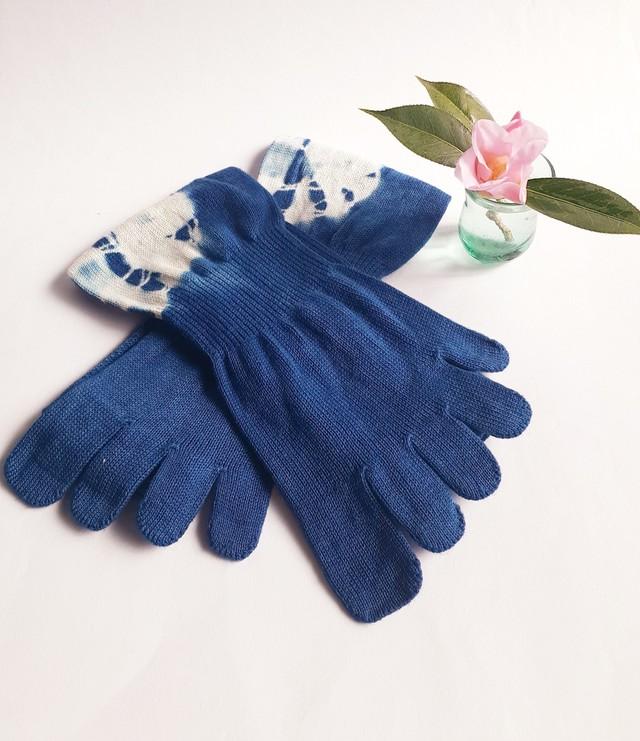 藍染の5本指くつ下