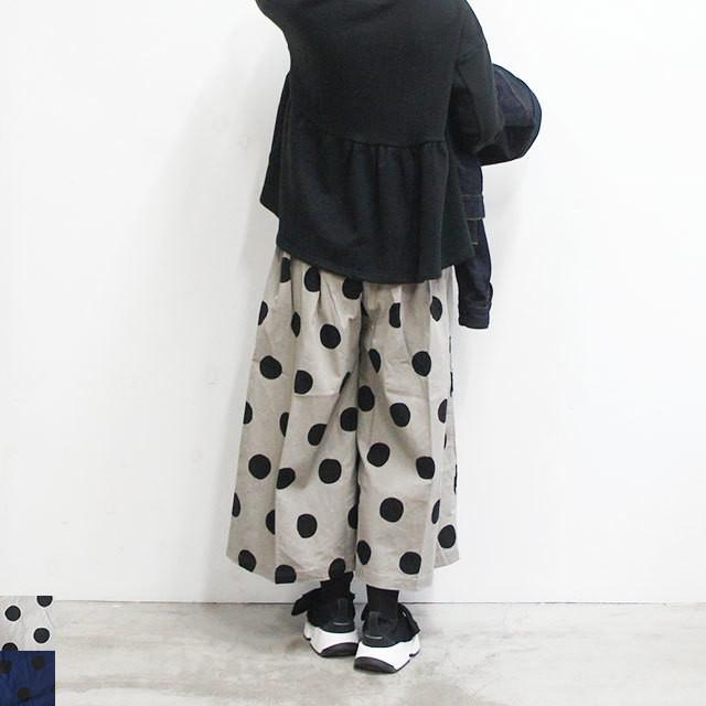 ichi イチ ドットパンツ レディース パンツ ドット 水玉 ゆったり 春 夏 秋 冬 通販 (品番180433)