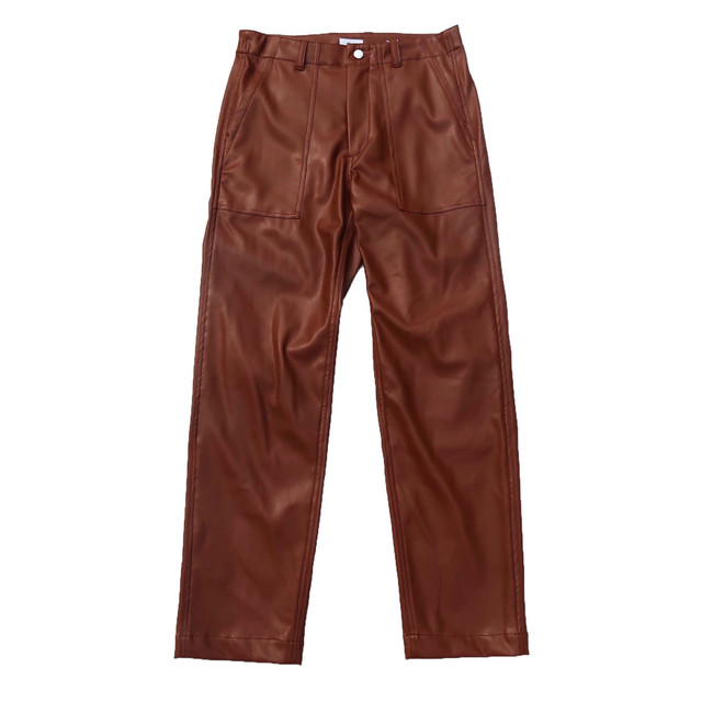 Allege. 20AW Synthetic Leather Baker Pants (Brown)