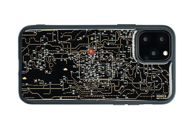 FLASH 関西回路線図 iPhone 12 mini ケース  黒【東京回路線図A5クリアファイルをプレゼント】