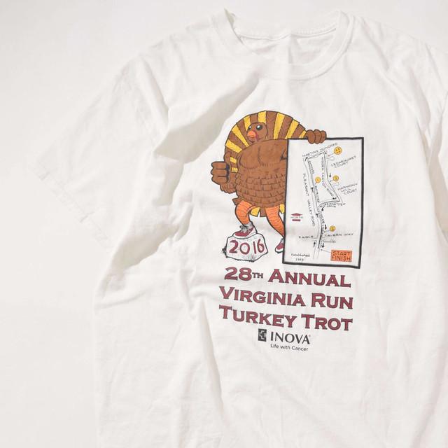 【XLサイズ】Virginia Run Turkey Trot バージニアラン ターキータロット TEE 半袖Tシャツ WHT ホワイト L 400601191055