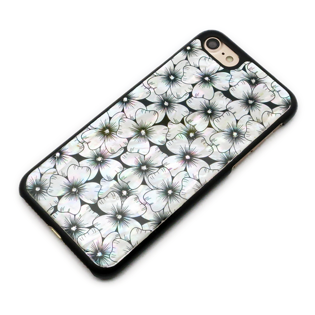 天然貝ケース★iPhone/Xperia/Galaxy スマホケース(ハナミズキ)螺鈿アート