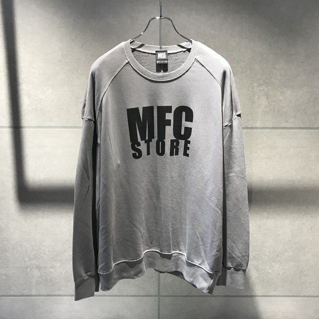 MFC STORE LOGO CREWNECK OVER SWEATSHIRT / LIGHTGRAY