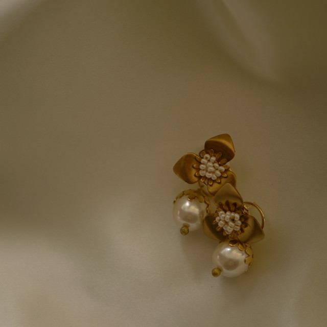 【わずか】【2way】little Pearl charm flower