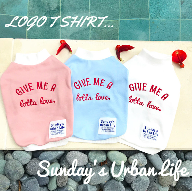 COOL ロゴTシャツ【Pink&Blue&White】