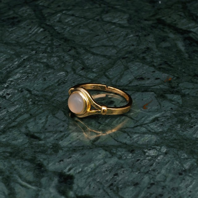 SINGLE MINI STONE DECO RING GOLD 009