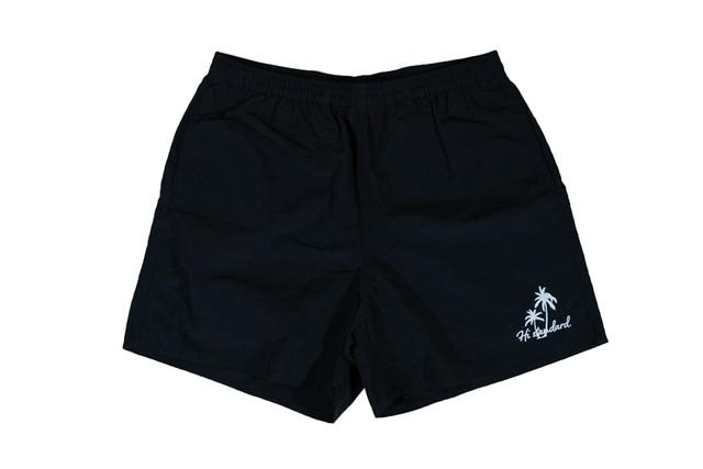 5/8[土]発売【palm tree nylon shorts】/ black