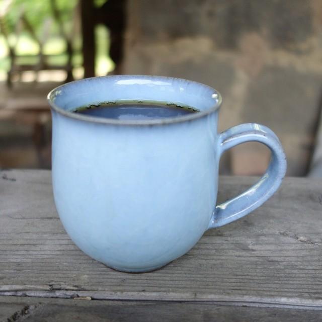 月白青瓷角マグカップ