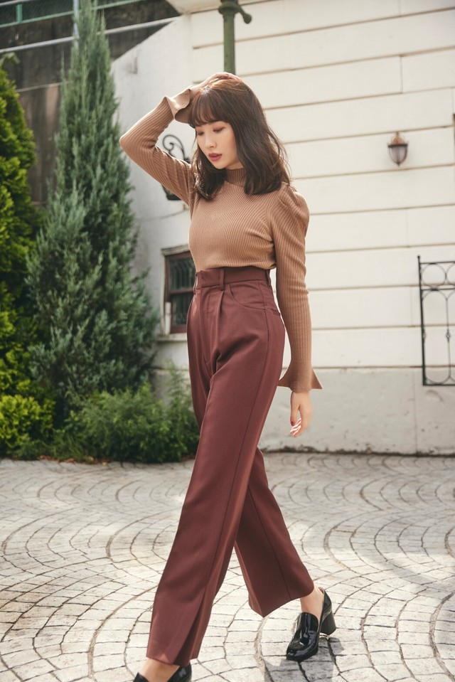 Super High Waisted Twill Pants