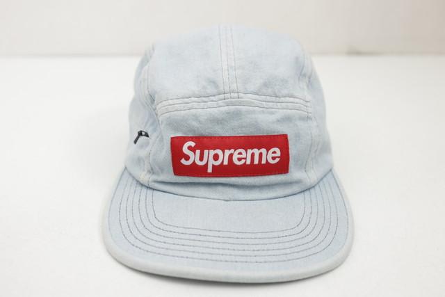 Supreme SIDE ZIP CAMP CAP INDIGO 65HL49788