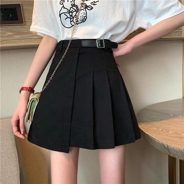 【ボトムス】ファッション膝上ハイウエストAラインスカート28559385