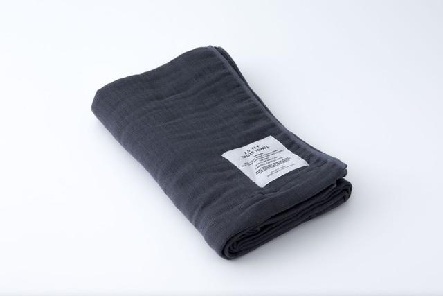 2.5-PLY GAUZE TOWEL:BATH TOWEL (Charcoal) / SHINTO TOWEL
