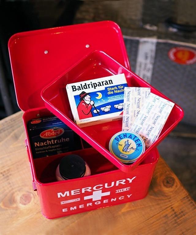 Mercuryエマージェンシーボックス救急箱【BOX】【小物入れにも】