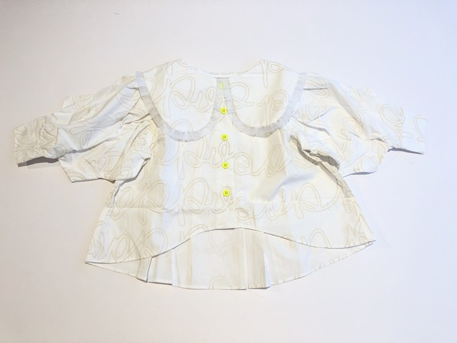 【20AW】フランキーグロウ ( frankygrow )POP BIG COLLAR MINORITY BLOUSE[ S / M / L ]white ivory ブラウス トップス