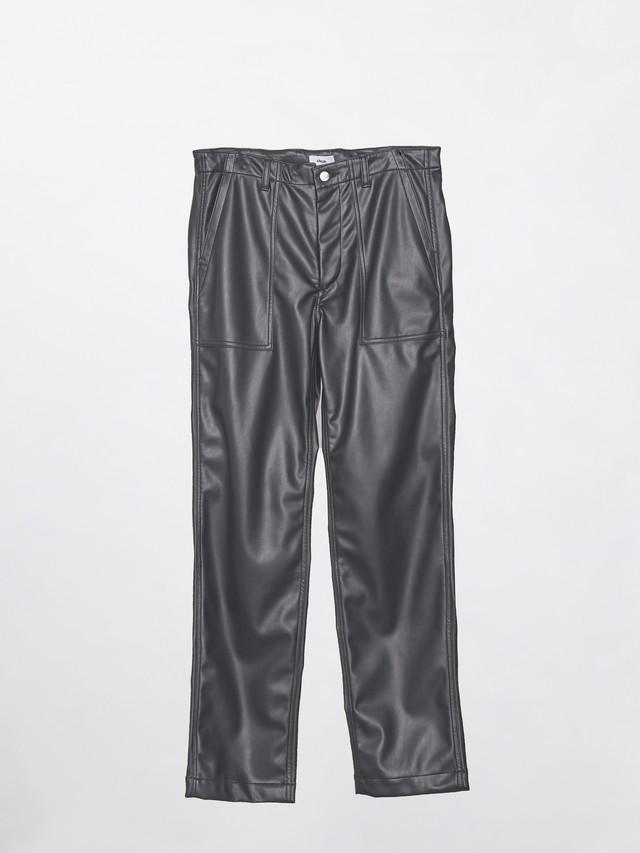 Allege Synthetic Leather Baker Pants Black AL20W-PT04