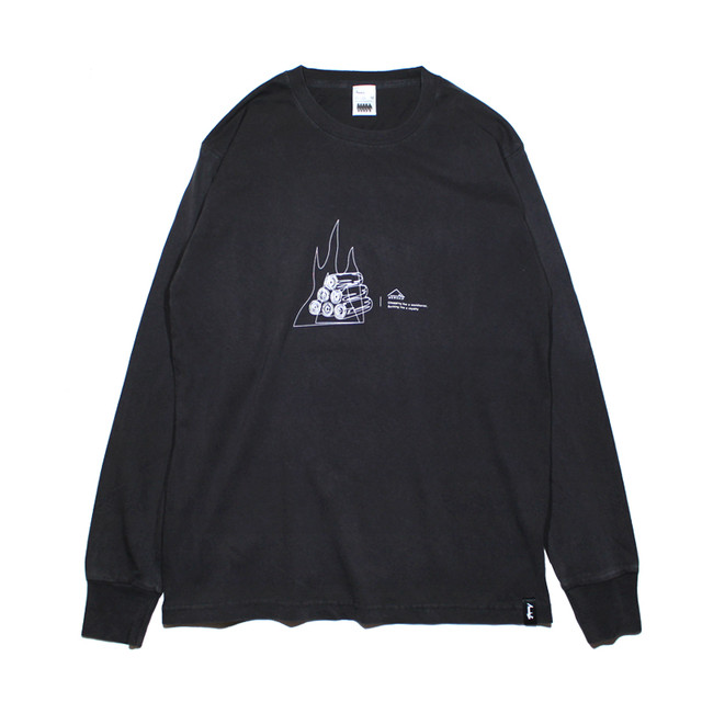 FIRE WOOD L/S CT <Black×White> - メイン画像